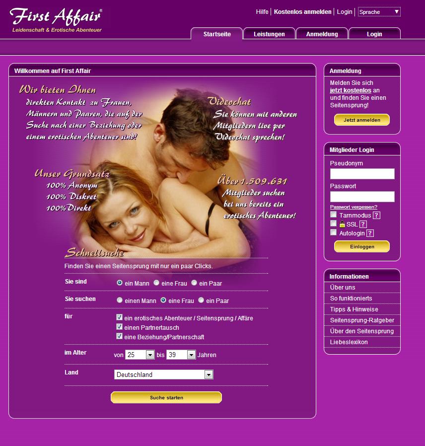first affair mitgliedschaft